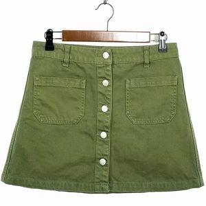 Sky And Sparrow Denim Mini Skirt